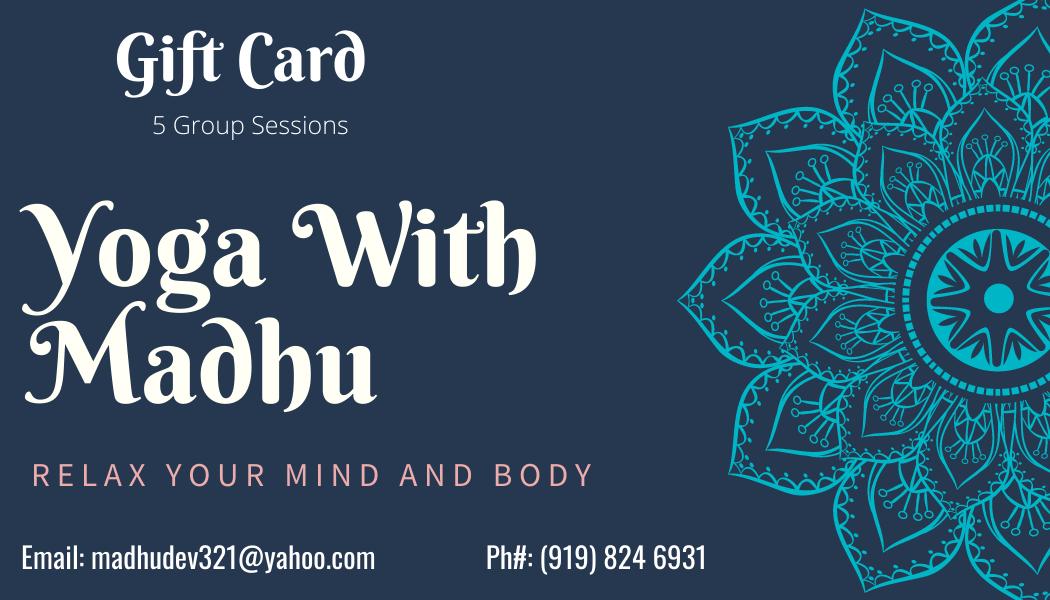 Yoga With Madhu Group Gift Card